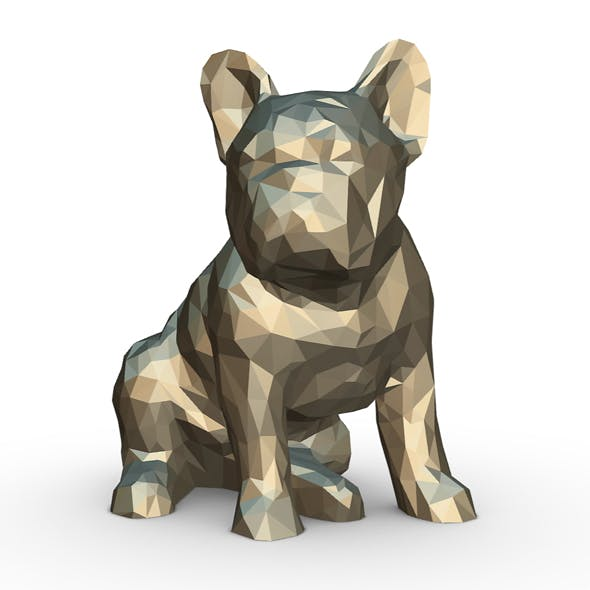 French Bulldog Figure - 3DOcean Item for Sale
