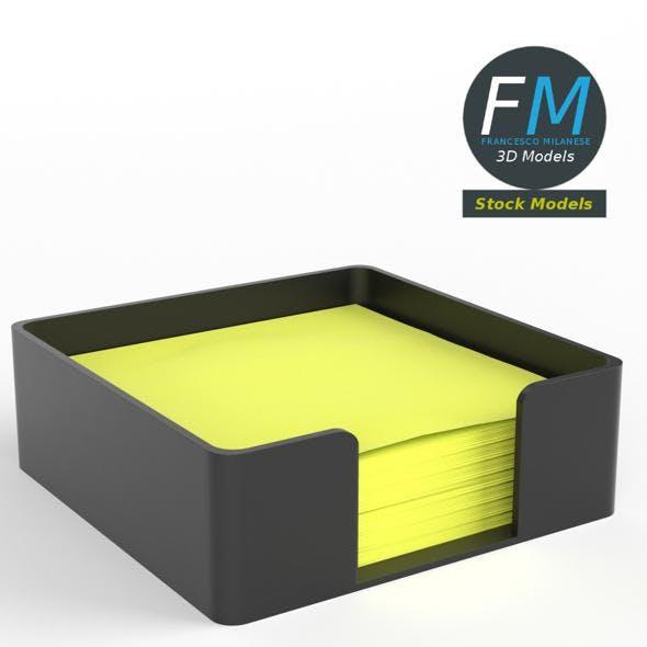 Sticky notes holder - 3DOcean Item for Sale