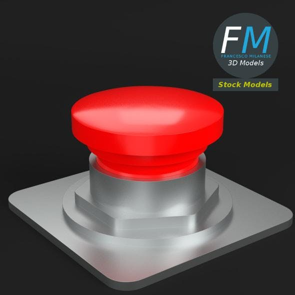 Red button - 3DOcean Item for Sale