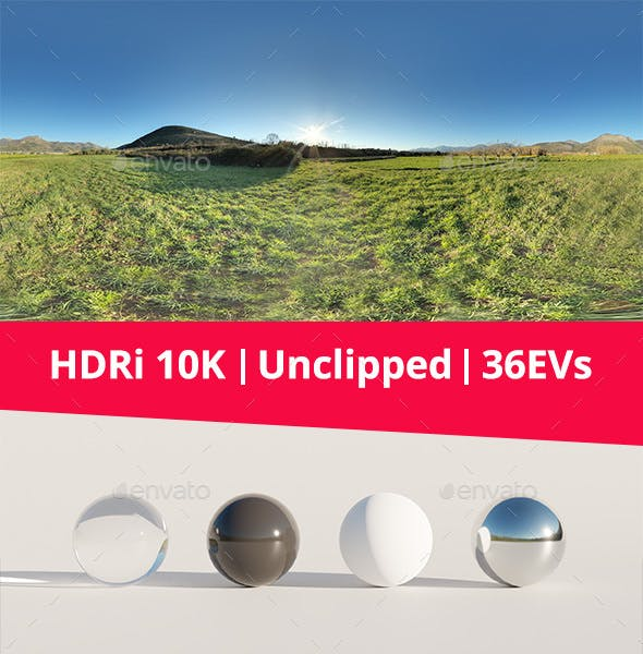 HDRi - Landscape, Mountains and Grass - 3DOcean Item for Sale