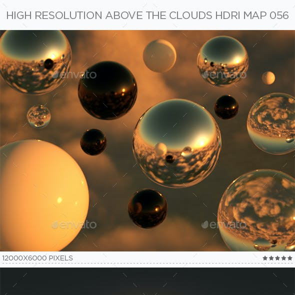 High Resolution Above The Clouds HDRi Map 056