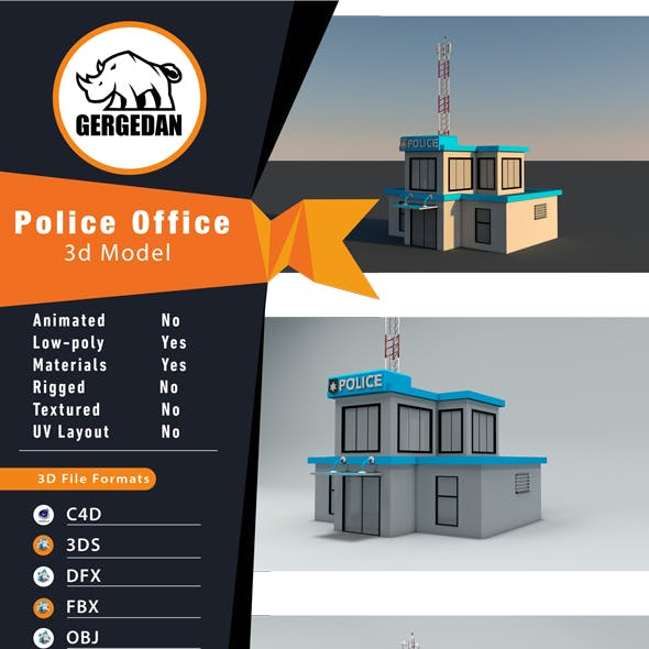 Low Poly Police Office
