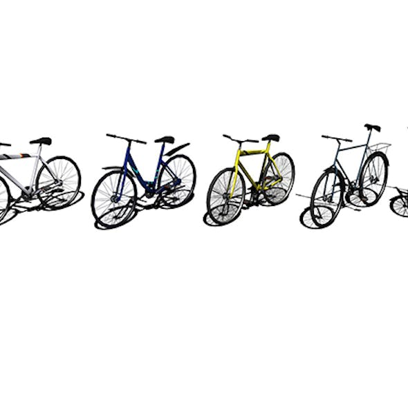 low-poly 3D model bicycles design