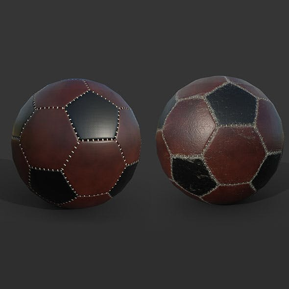 Soccer Ball PBR low poly