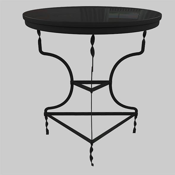 BLACK METAL TABLE ADELAIDE - 3DOcean Item for Sale