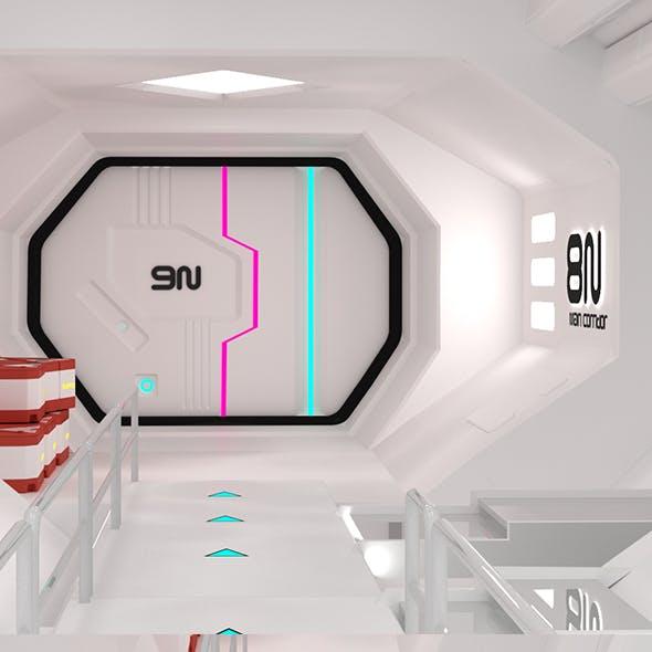 Spaceship Corridor - Modular - Game ready