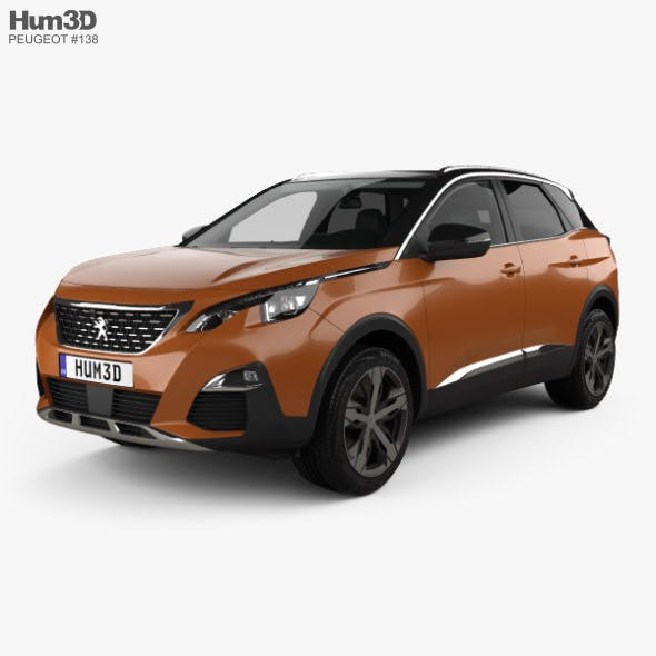 Peugeot 3008 with HQ interior 2016 - 3DOcean Item for Sale