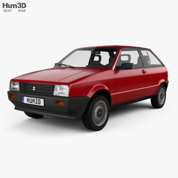 Seat Ibiza 3-door 1984 - 3DOcean Item for Sale