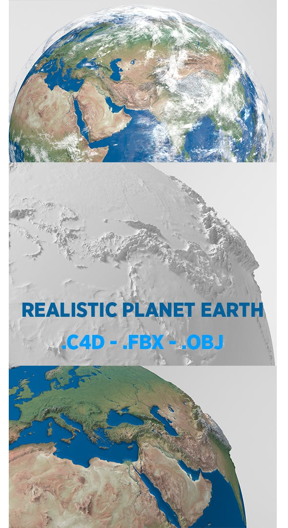 Planet Earth - Polygons - Realistic 3D World Globe - 3DOcean Item for Sale