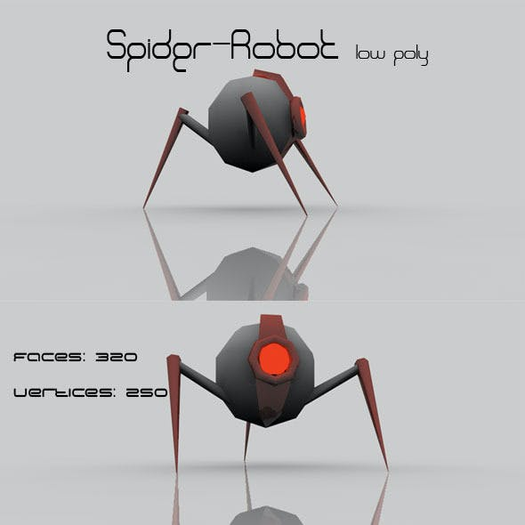 Spider - Robot low poly
