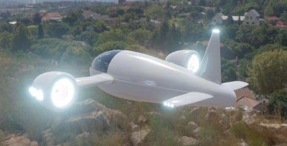 Futuristic Plane - 3DOcean Item for Sale