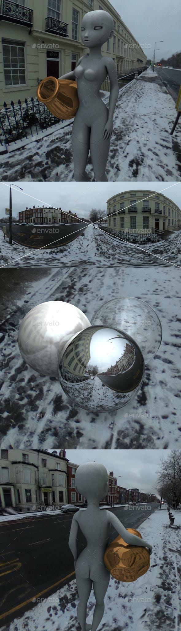 Snowy City Road HDRI - 3DOcean Item for Sale