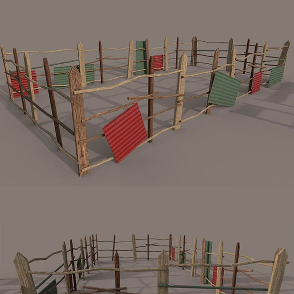 different Wooden fence PBR