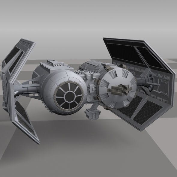 Tie Fighter (bomber) from Star Wars - 3DOcean Item for Sale