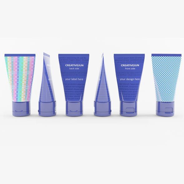 07_Blue Cosmetic Cream Tubes