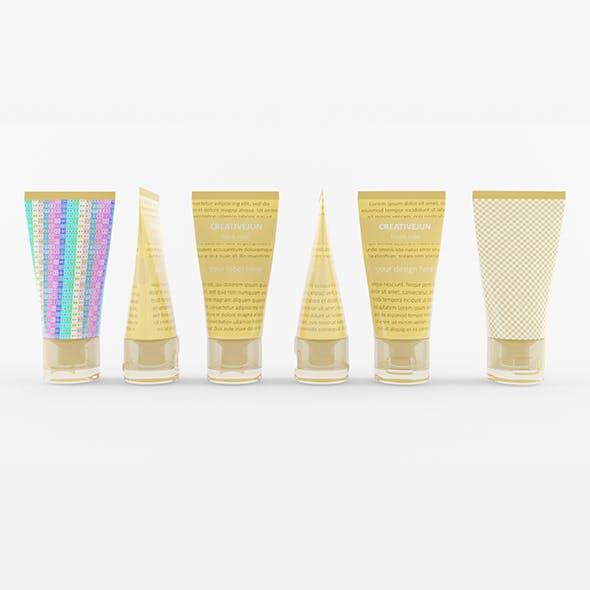 10_ Cream Tubes with Cap Semi-Transparent