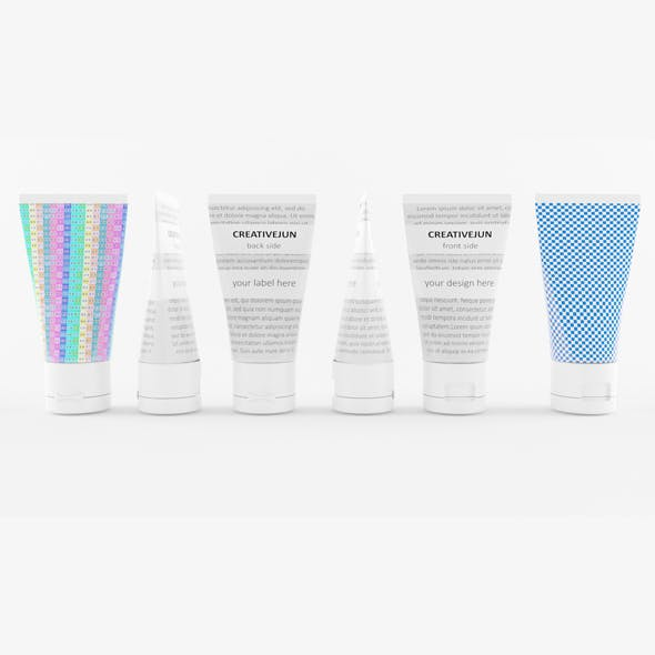 11_ White Cosmetic Cream Tubes