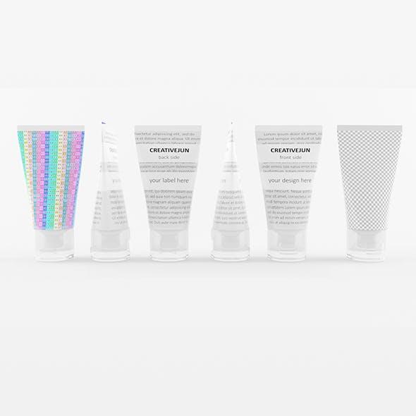 12_ White Tubes with Cap Semi-Transparent