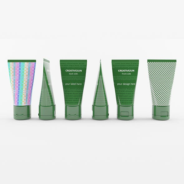 13_ Green Cosmetic Cream Tubes