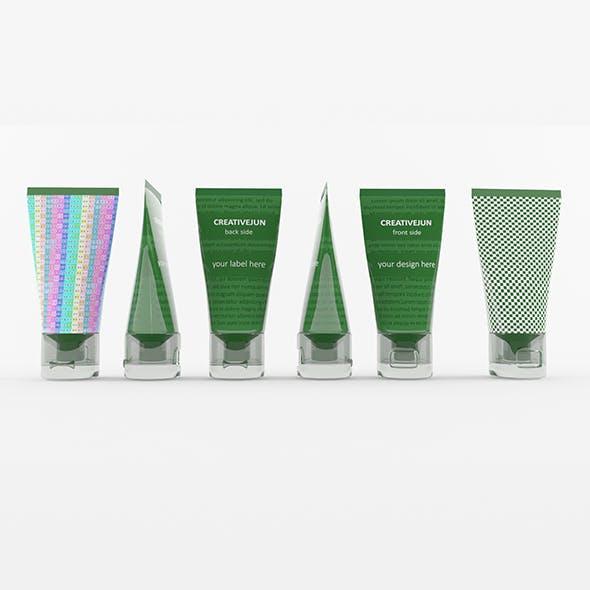 14_ Green Tubes with Cap Semi-Transparent