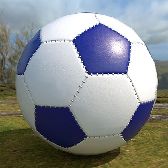 Soccer ball scratched PBR Low-poly