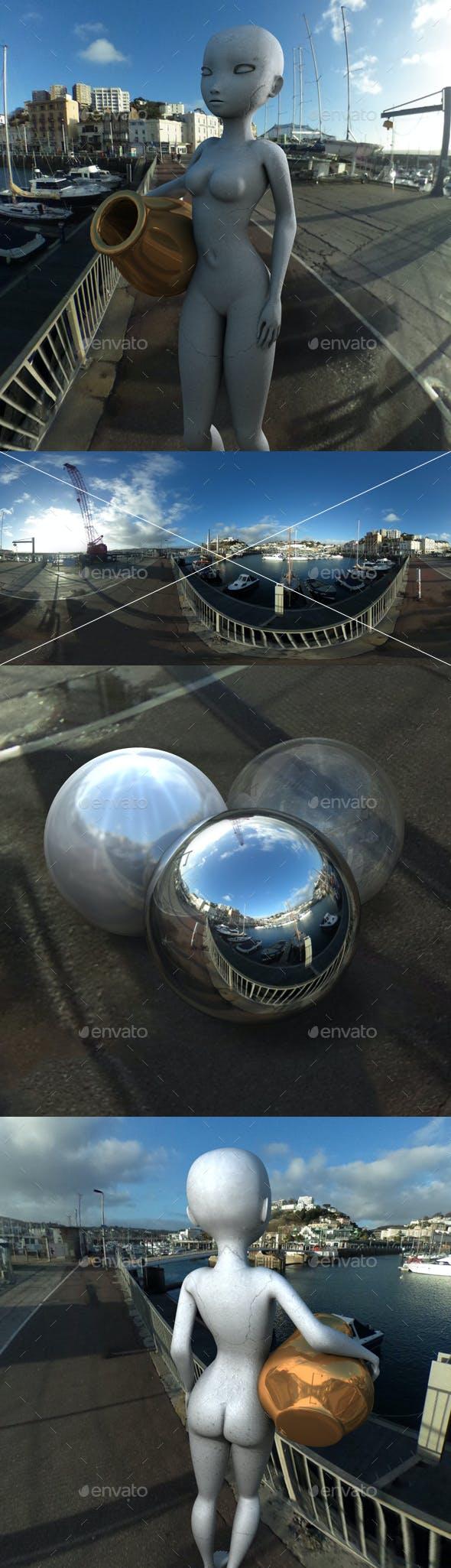 Boatyard Sunrise HDRI - 3DOcean Item for Sale