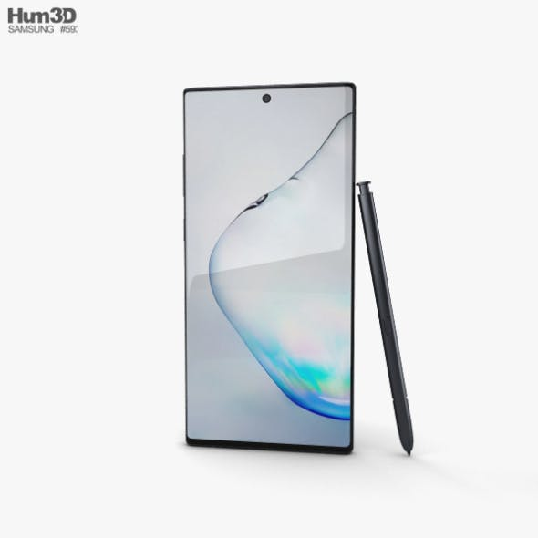 Samsung Galaxy Note10 Plus Aura Black - 3DOcean Item for Sale