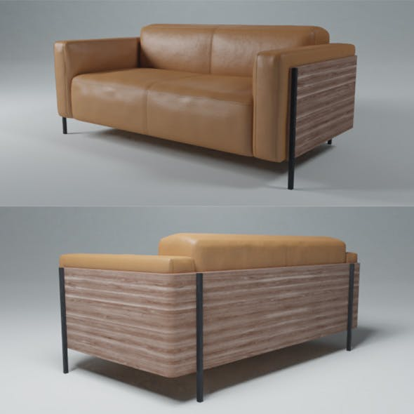 Andreu World 2 seater leather sofa