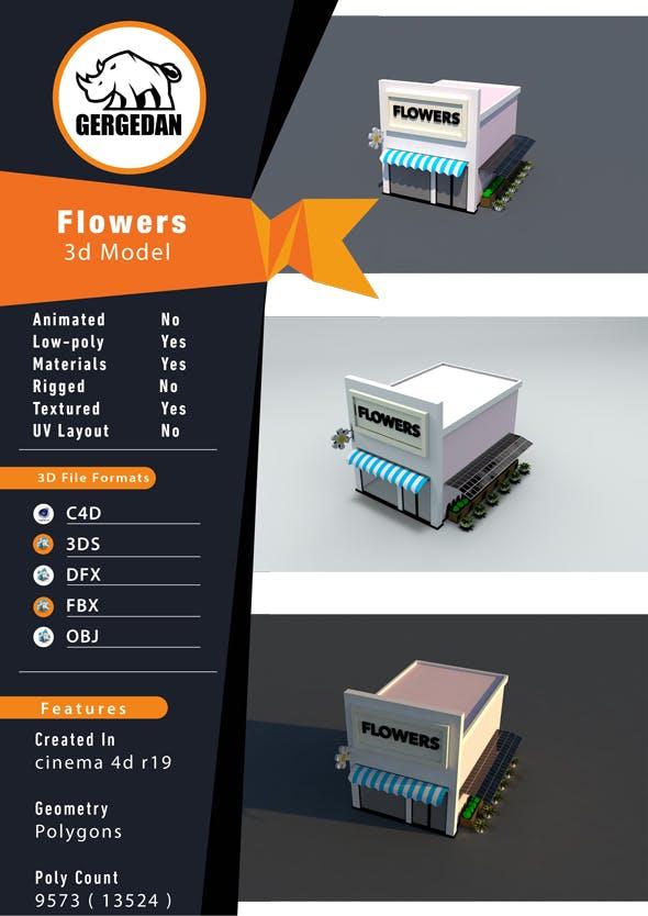 Flowers Shop - 3DOcean Item for Sale