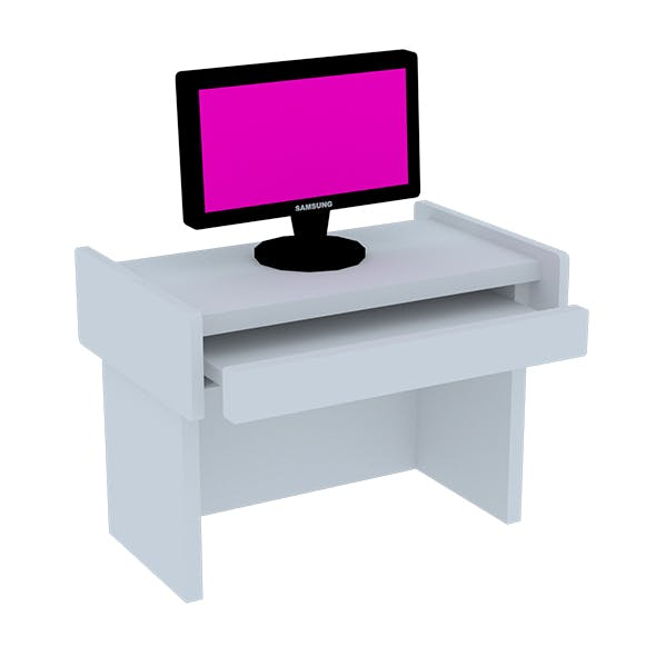 Low poly Computer with Table - 3DOcean Item for Sale