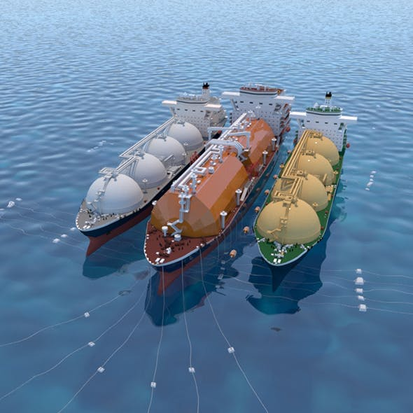 Floating gas storage with the Tanker ship