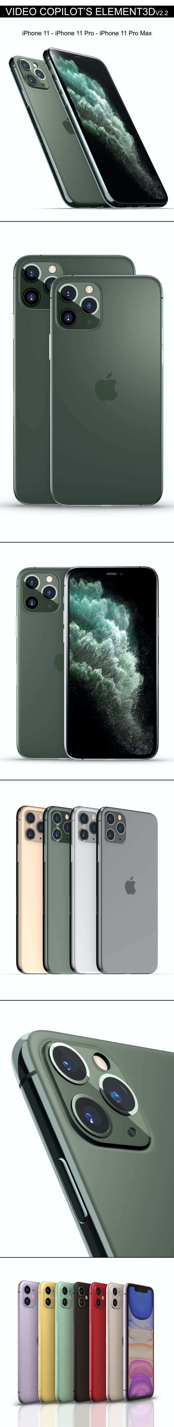 Element3D - iPhone 11 Collection - 3DOcean Item for Sale