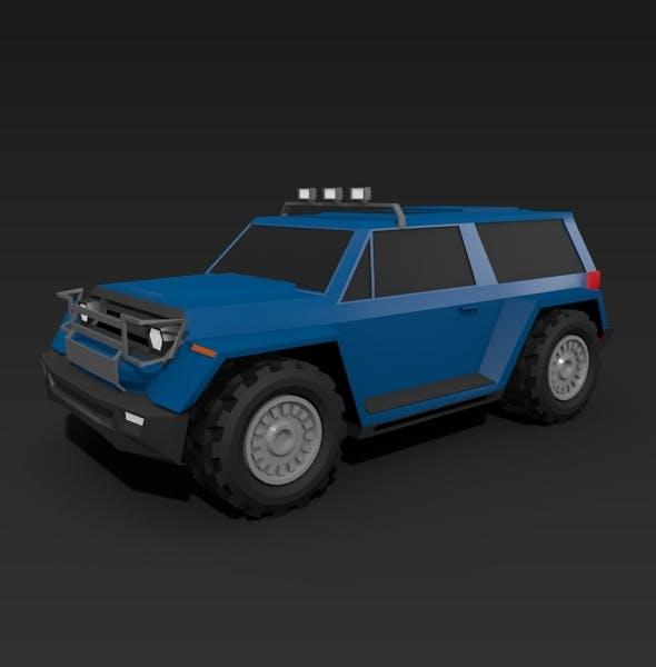 Lowpoly terrain vehicle - 3DOcean Item for Sale