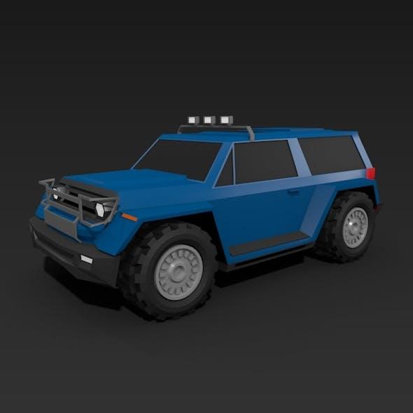 Lowpoly terrain vehicle