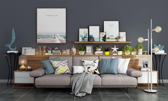 modern sofa set - 3DOcean Item for Sale