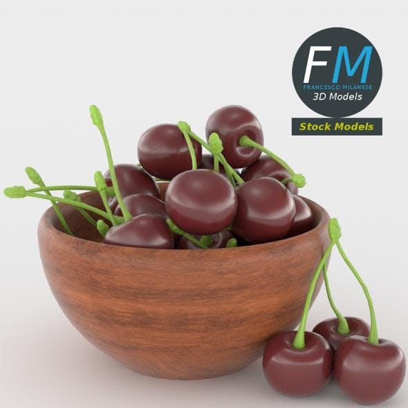 Cherries in a bowl - 3DOcean Item for Sale