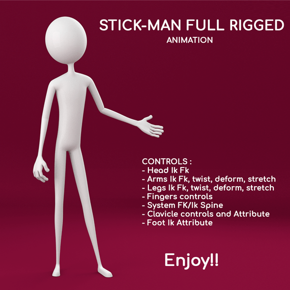 Stickman Full Rigged