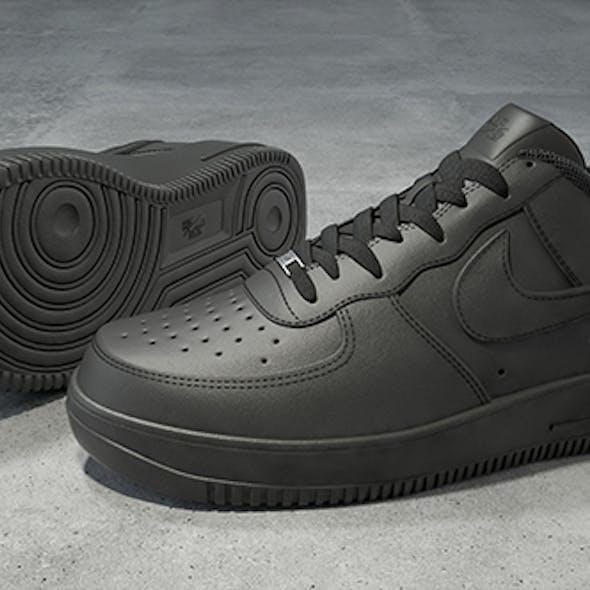 Nike Air Force 1 low black 3D model