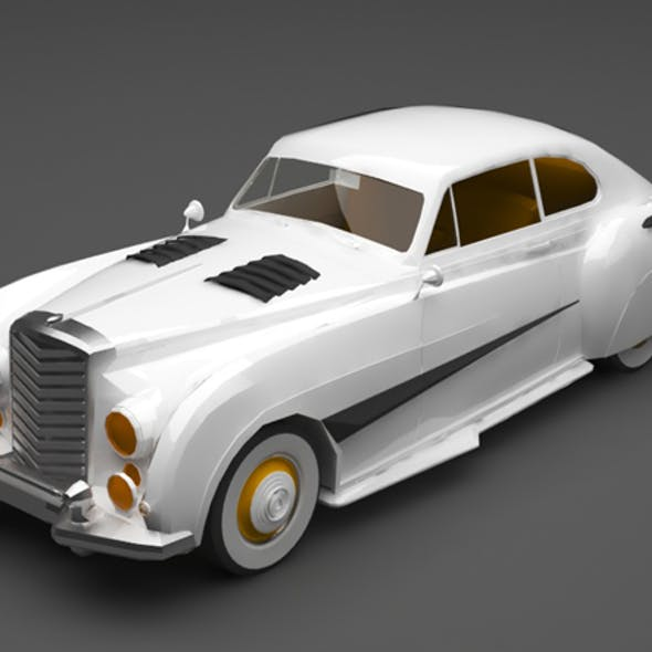 Bentley Continental lowpoly
