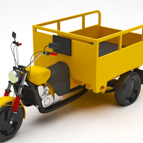 Tricycle lowpoly