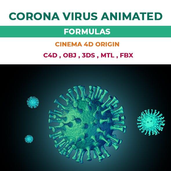 Corona Virus Animated 3D Models