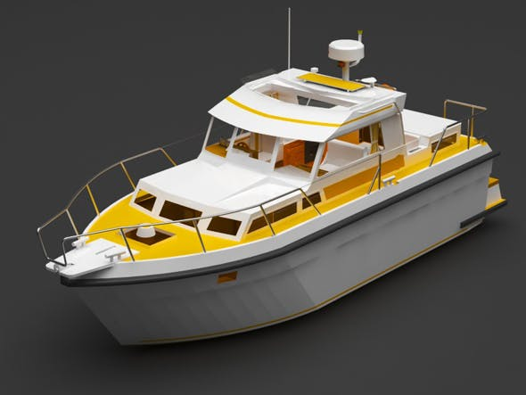 private boat - 3DOcean Item for Sale