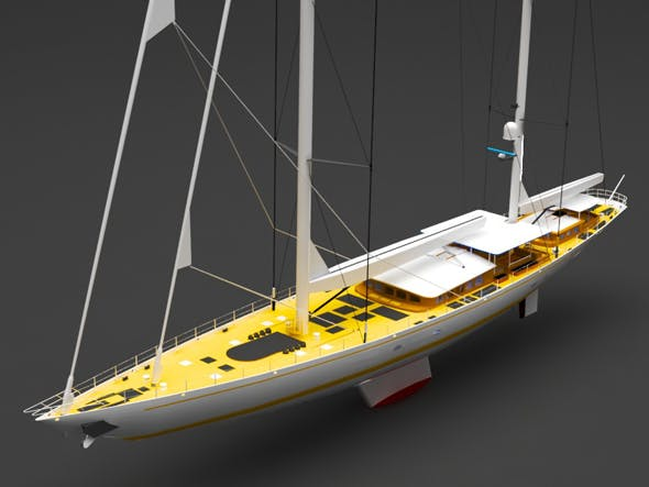 Sailing yacht - 3DOcean Item for Sale