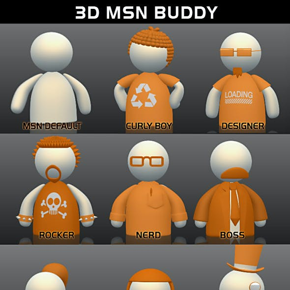 3D MSN buddy (pack)
