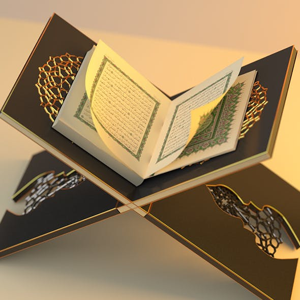 Holy Quran Book and Reading Table