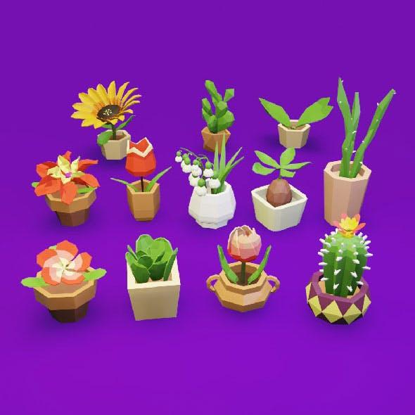 Lowpoly 3D Pot Culture