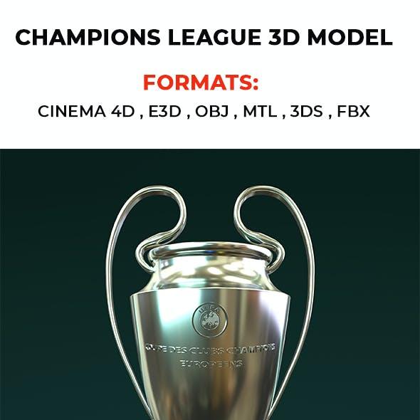Champions League 3D Model