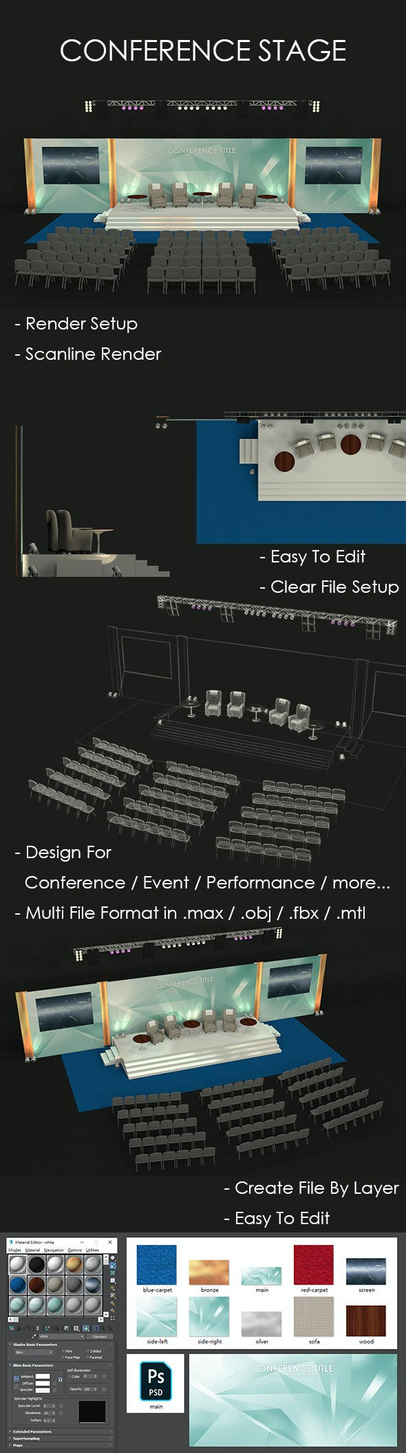 Conference Stage - 3DOcean Item for Sale