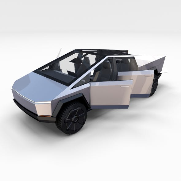 Tesla Cybertruck with chassis and interior - 3DOcean Item for Sale