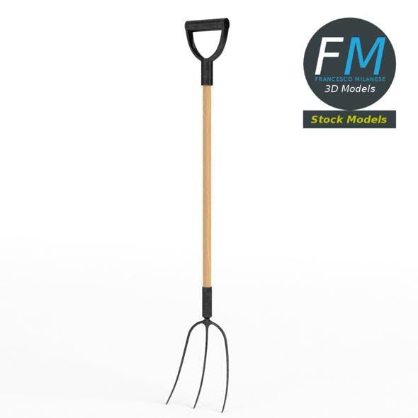 Three-tined pitchfork